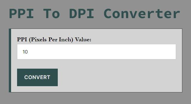 PPI To DPI Converter